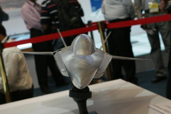 印度在09年航展上展出的MCA战机模型
