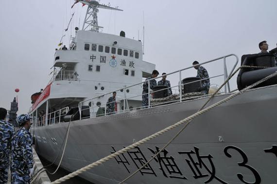 资料图:中国渔政船舶开赴南海海域宣示主权