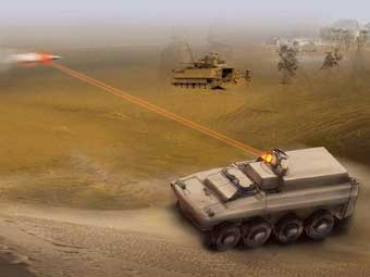 美军未来车载激光武器效果图