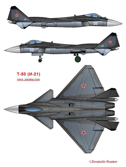 data for: three wing layout Five heavy T50 fighter program 。