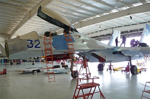 about assembled Su-27 fighter