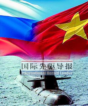 """""""基洛""""级潜艇别名为""""大洋黑洞"""",被誉为目前全球最静的柴电潜艇,是猎杀水面目标的利器。越南海军如果一次装备6艘""""基洛""""级潜艇,将一举跃升为东南亚地区的海上强国。本报资料图"""
