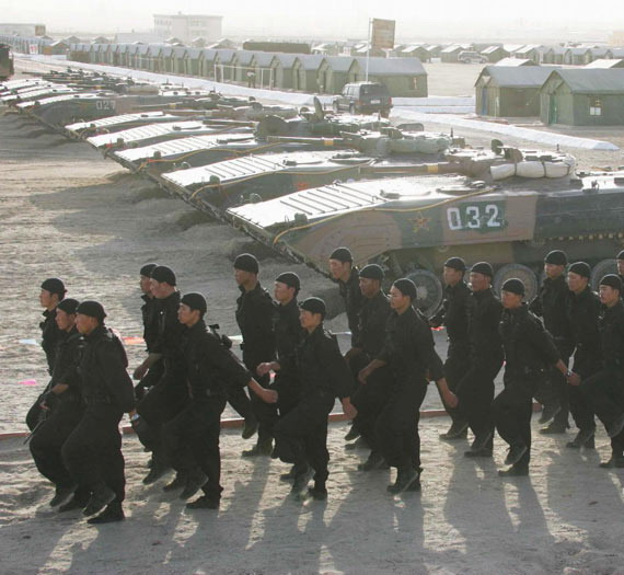 Data for: PLA Special Forces soldiers parade