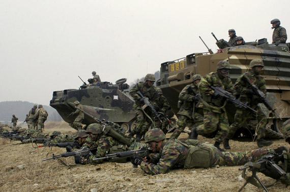 资料图片:美韩军队联合演习