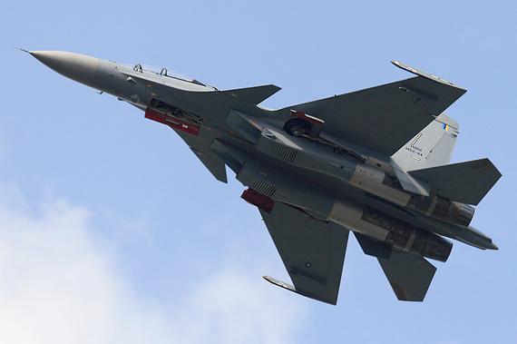 资料图:马来西亚空军向俄罗斯购买的苏-30MKM战机