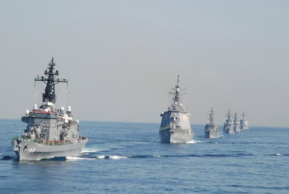 文章称,目前日本海上力量在太平洋地区仅次于美国海军位列第二