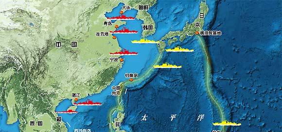 中国海疆态势图