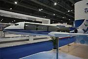 国产ARJ21货机模型亮相香港航展