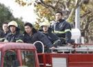 消防队员前往事故现场