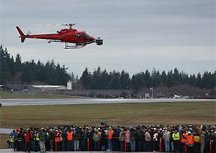 多架直升机实施航拍