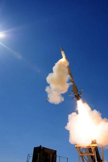 资料图:美国爱国者-3导弹发射试验