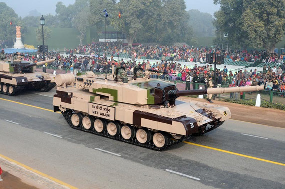 India Arjun main battle tanks made debut
