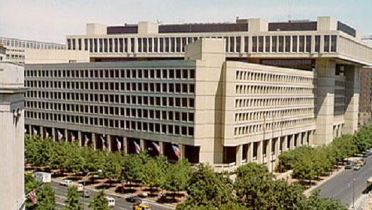 """资料图:美国情报机构是炮制""""中国间谍案""""的推手之一。图为联邦调查局总部大楼"""