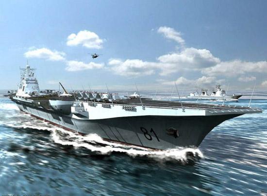 网络流传的中国航母想象图
