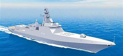俄军新一代万吨级隐形远洋导弹驱逐舰三维效果图