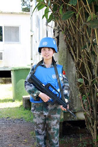 我维和部队女护士曾着防弹衣持95步枪押运食品