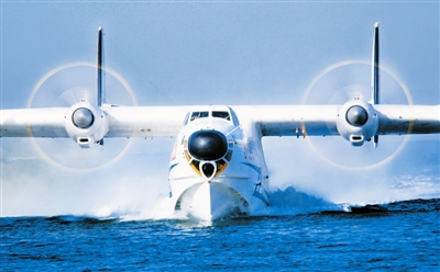 北海舰队航空兵某水上飞机部队进行演练(图)