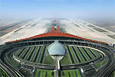 鸟瞰首都机场3号航站楼