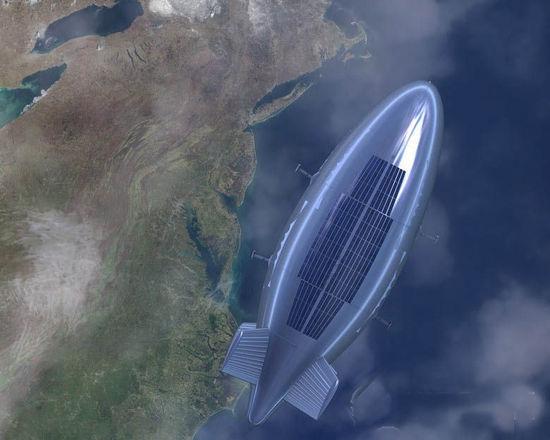 资料图:美军计划将大型轻质相控阵雷达集成到飞艇结构之中,研制一种可在21千米高空执行长期监视任务的平流层飞艇。