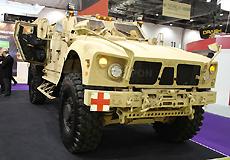 由M-ATV防雷车改装的救护车