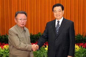 胡锦涛同金正日举行会谈
