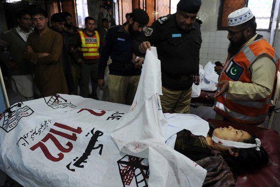 资料图:在巴基斯坦白沙瓦遭枪击遇难的中国女性
