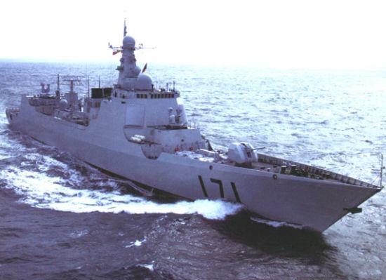 资料图:国产新型052C级防空驱逐舰