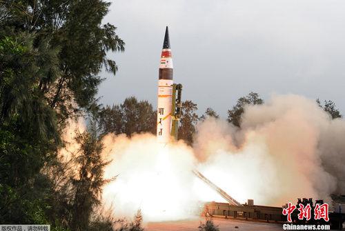 印度烈火5型导弹发射