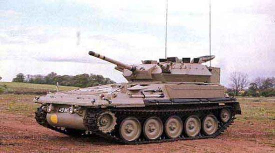 """资料图:菲律宾陆军装备的英制Fv-101""""蝎""""轻型坦克"""