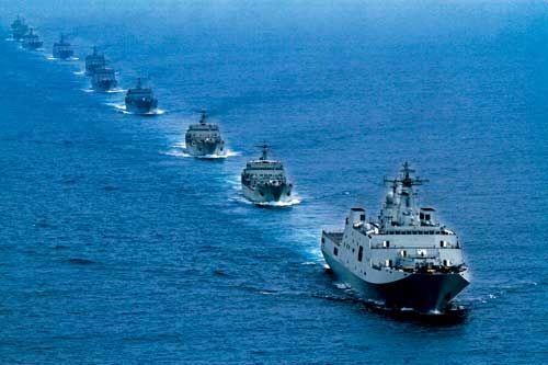 南海舰队登陆演习。