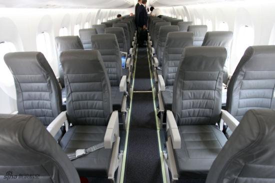 庞巴迪Q400 NextGen客机客舱。(图片版权所有 不得转载)