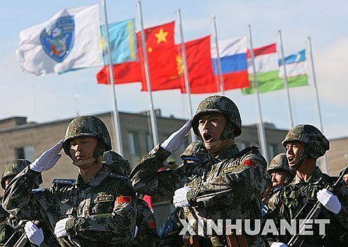 资料图:上合组织联合军演