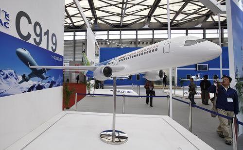 国产大型客机c919模型
