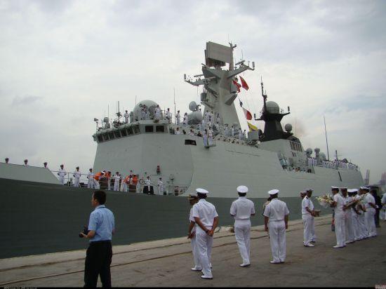 中国海军054A型护卫舰益阳号抵达巴基斯坦卡拉奇。