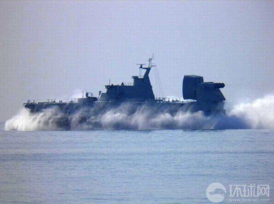 """近日,乌克兰为中国海军建造的""""欧洲野牛""""级气垫登陆艇已经完工,并开始进行海试。不久后将装备中国海军。"""