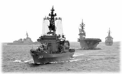 当地时间10月14日,日本海上自卫队阅舰式举行。(资料图片)