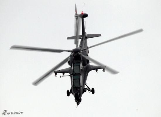 资料图:在珠海航展上亮相的武直-10攻击直升机。