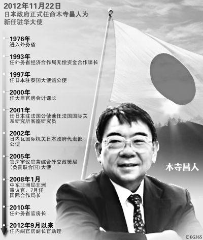 日本新任驻华大使木寺昌人