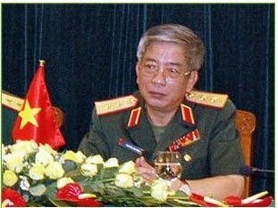 图为越南国防部副部长阮志咏