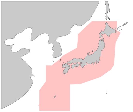 资料图:日本的防空识别圈范围