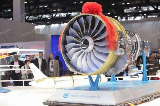 资料图:CJ-1000A发动机模型。
