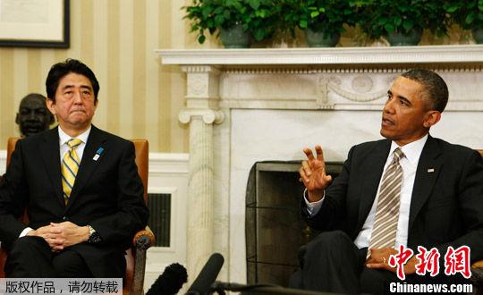 此前有报道称安倍访美遇冷,奥巴马不愿提钓鱼岛