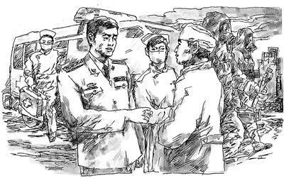 铅笔画军人服装