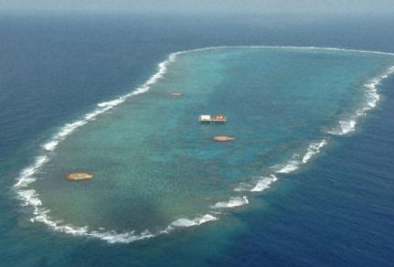 资料图:冲之鸟礁。