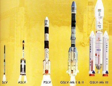 资料图:印度研发的几种火箭示意图,最右为GSLV-Mk 3。