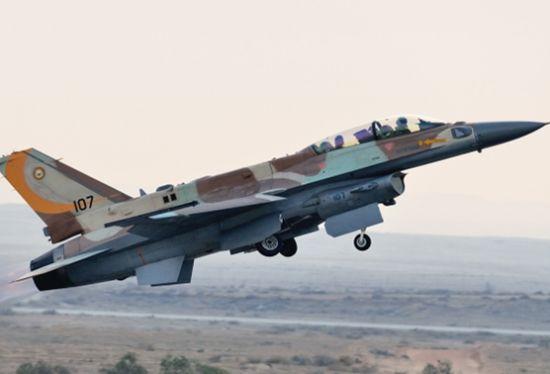资料图:以色列空军装备的F-16战机