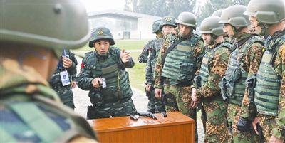 中国武警同俄内卫部队在京举行联合训练图片