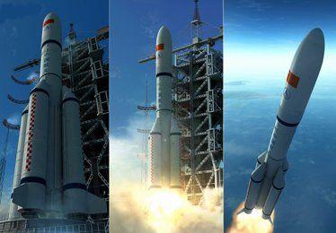 资料图:长征5号火箭想象图