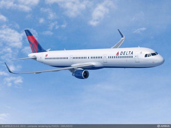 达美航空鲨鳍翼A321客机