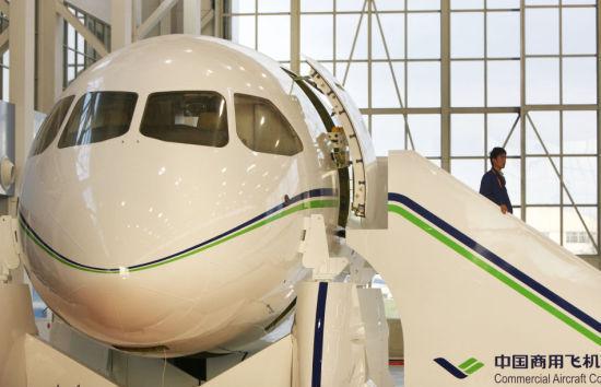 资料图:国产大飞机C919模型